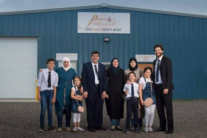 The Hadhad family opens their new chocolate factory — photo courtesy of Global News