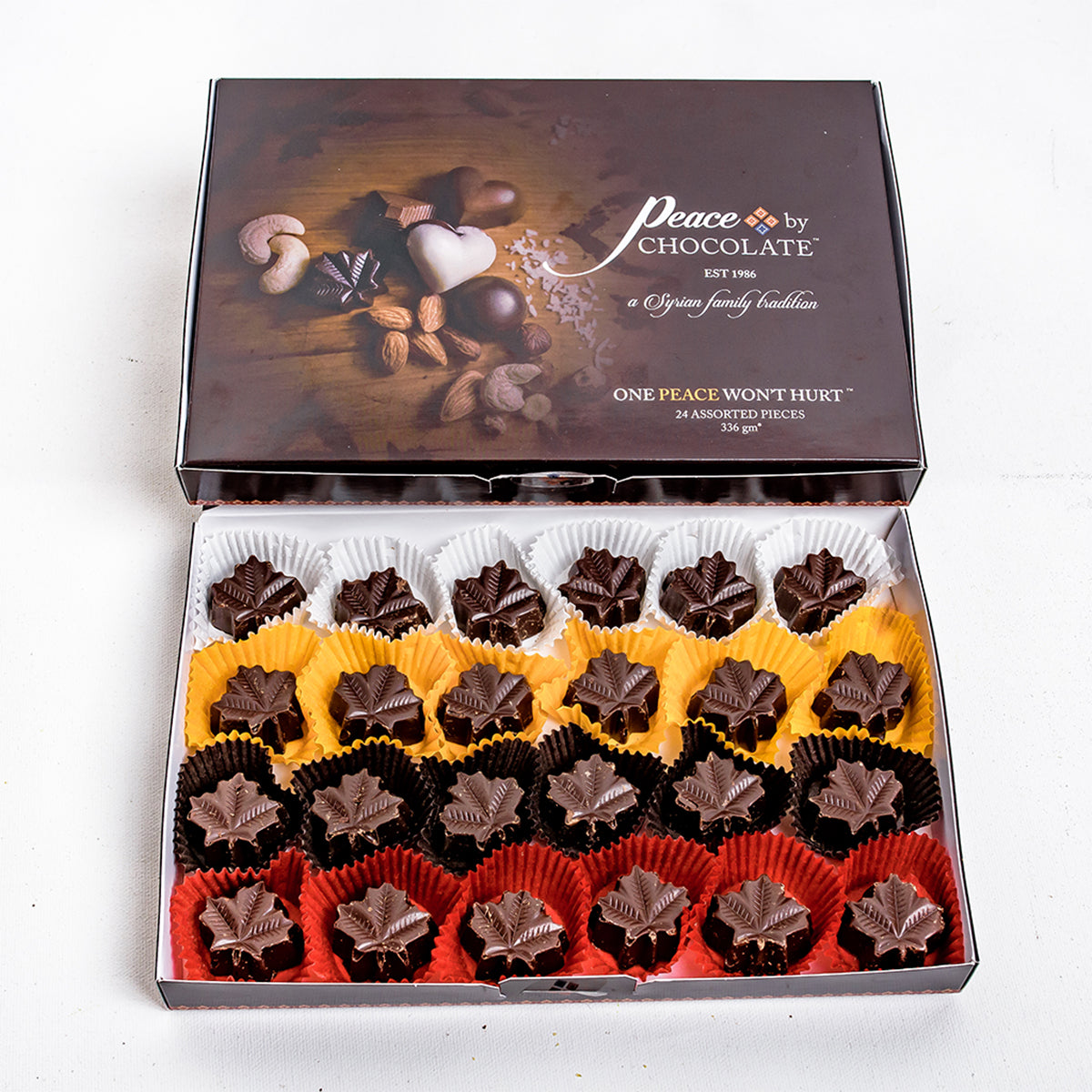 Assorted Dark Chocolates Maple Leafs 24 Pieces