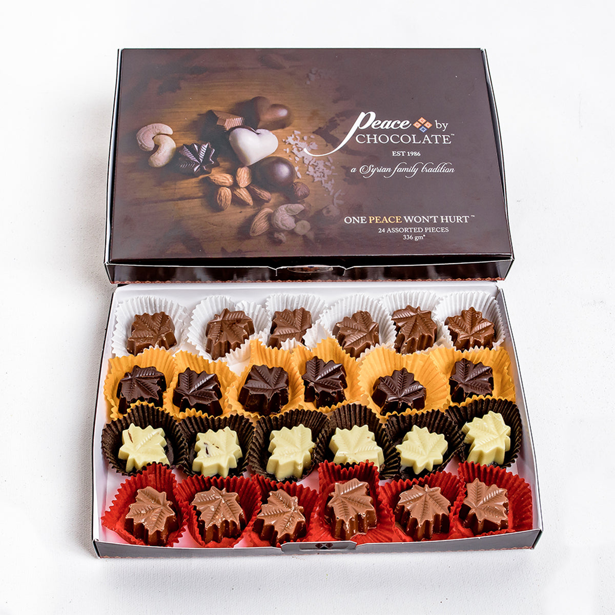 Assorted Chocolates Maple Leafs 24 Pieces