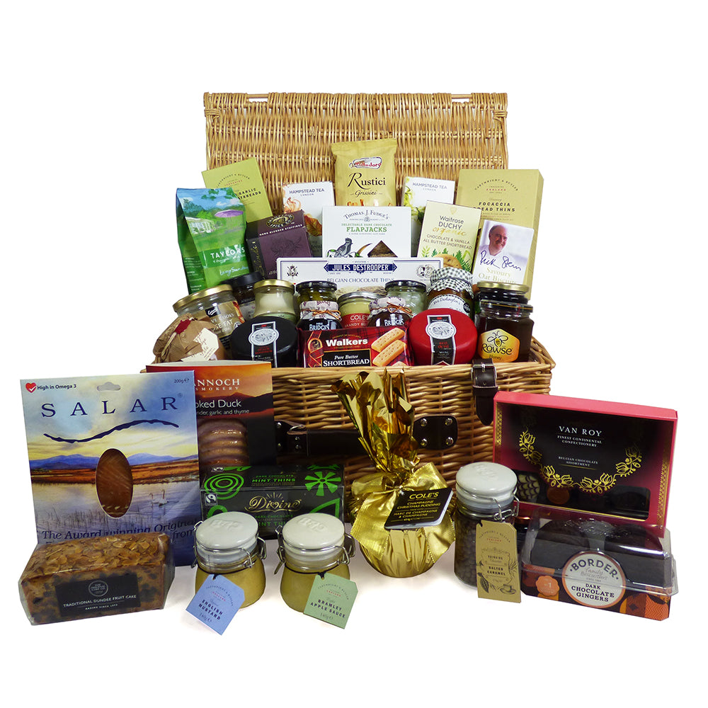 Celebration Gourmet Food Hamper In Traditional Wicker Basket