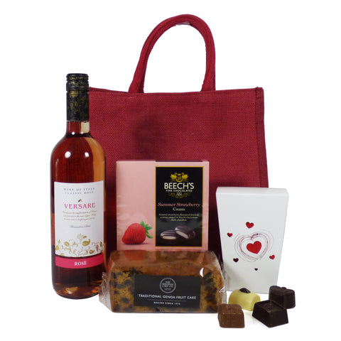 'For Her' Wine and Chocolate Gift Bag Hamper
