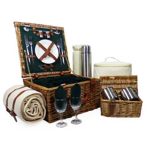 Deluxe Ashby 2 Person Picnic Hamper Basket