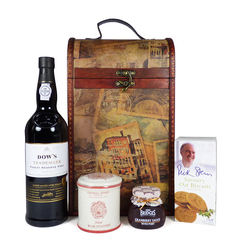 Dow's Port 75cl and Stilton Hamper Presented in our Unique Chest
