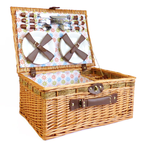 The Florence 4 Person Picnic Hamper Basket