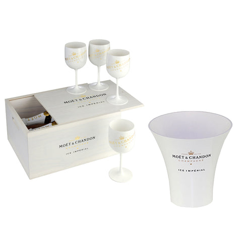 Moet Ice Imperial Champagne 2 Bottle Party Pack with 4 Branded Glasses and Ice Bucket