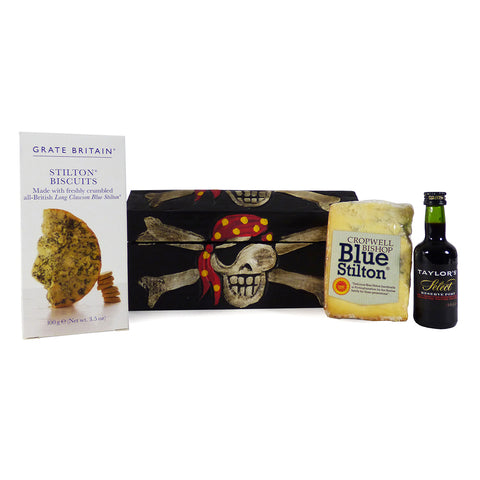 Port and Stilton Treasure Chest Food Hamper