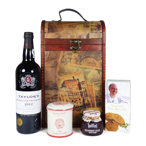 Taylor's Port and Stilton Hamper Presented in our Unique Chest