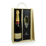 75cl Moet & Chandon Brut Imperial Champagne with Happy Birthday Champagne Flute