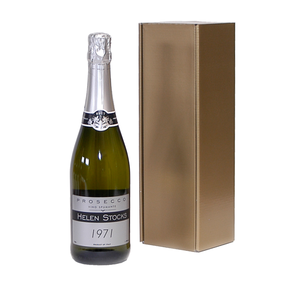 Personalised Prosecco Wine & Gold Gift Box