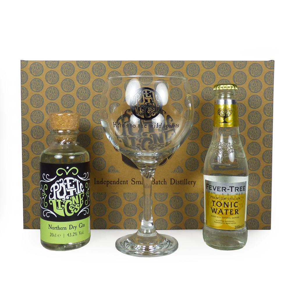 Poetic License 20cl Northern Dry Gin & Tonic Gift Set