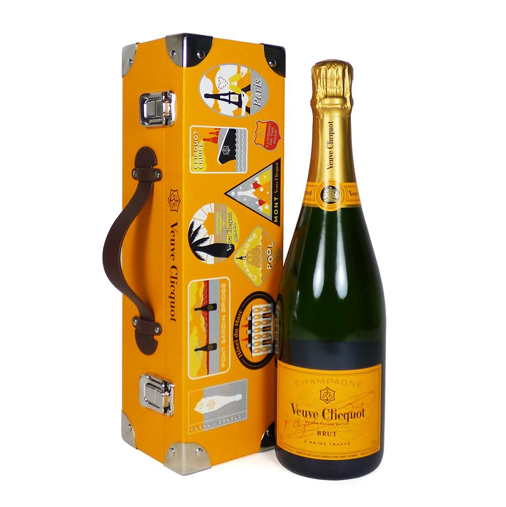 Veuve Clicquot Champagne Brut 75cl in Trunk Style Carrier Case