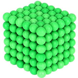 Magnetic Balls 216pcs 5mm Silver/ Green + Box