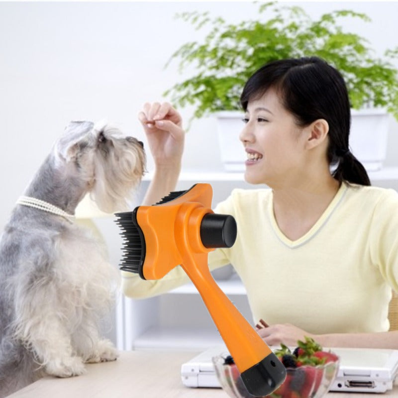 Multi-purpose Pet Dog Cat Brush Hair Fur Shedding Trimmer