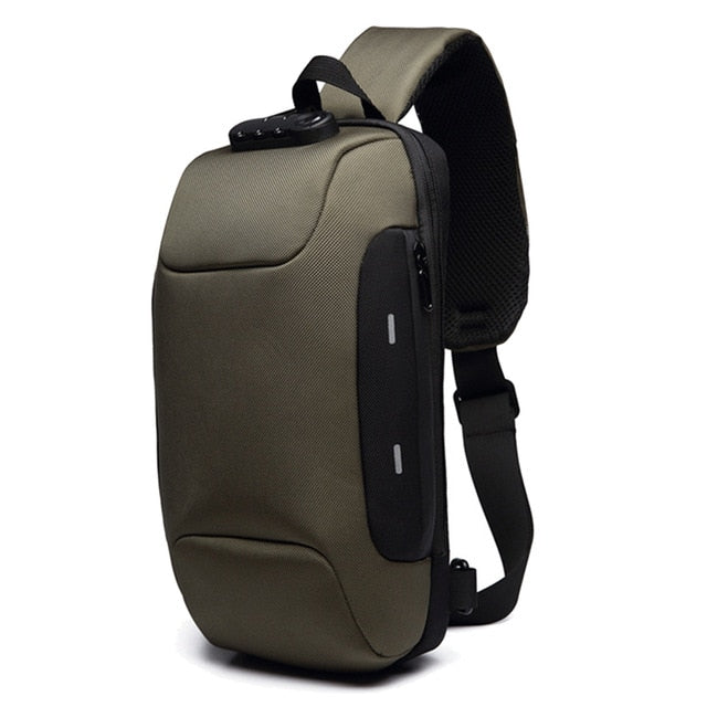 Men Water Resistant Backpack Anti-Theft With 3-Digit Lock