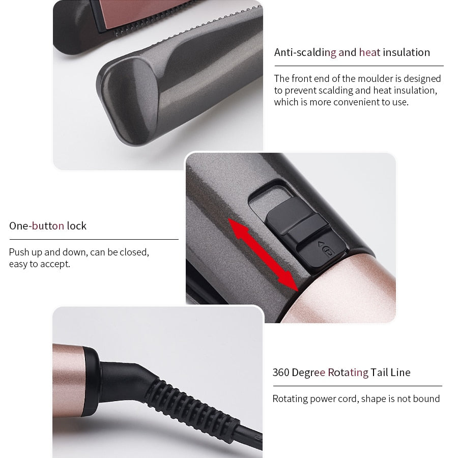 Professional Flat Iron LED Hair Straightener