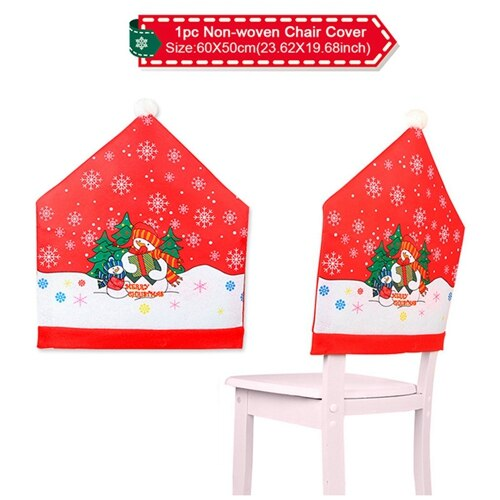 Santa Claus Chairs Cover Christmas Decoration For Home