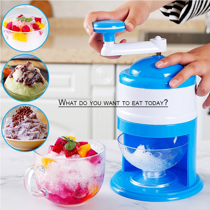 Portable Hand Crank Manual Ice Crusher Shaver