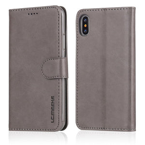 Business Leather Flip Case For Apple iPhone