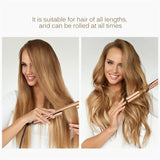 2 in 1 Gold Hair Straightener Hair Curler Twist Hair Curling & Straightening