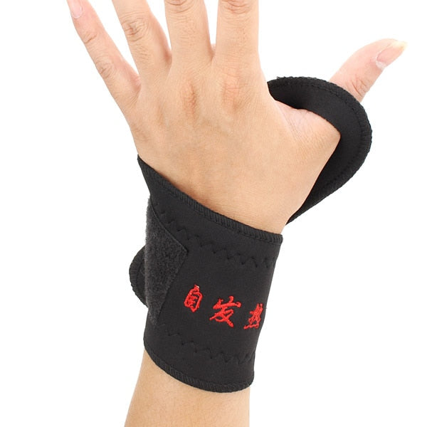 Tourmaline Self Heating Magnetic Wrist Support
