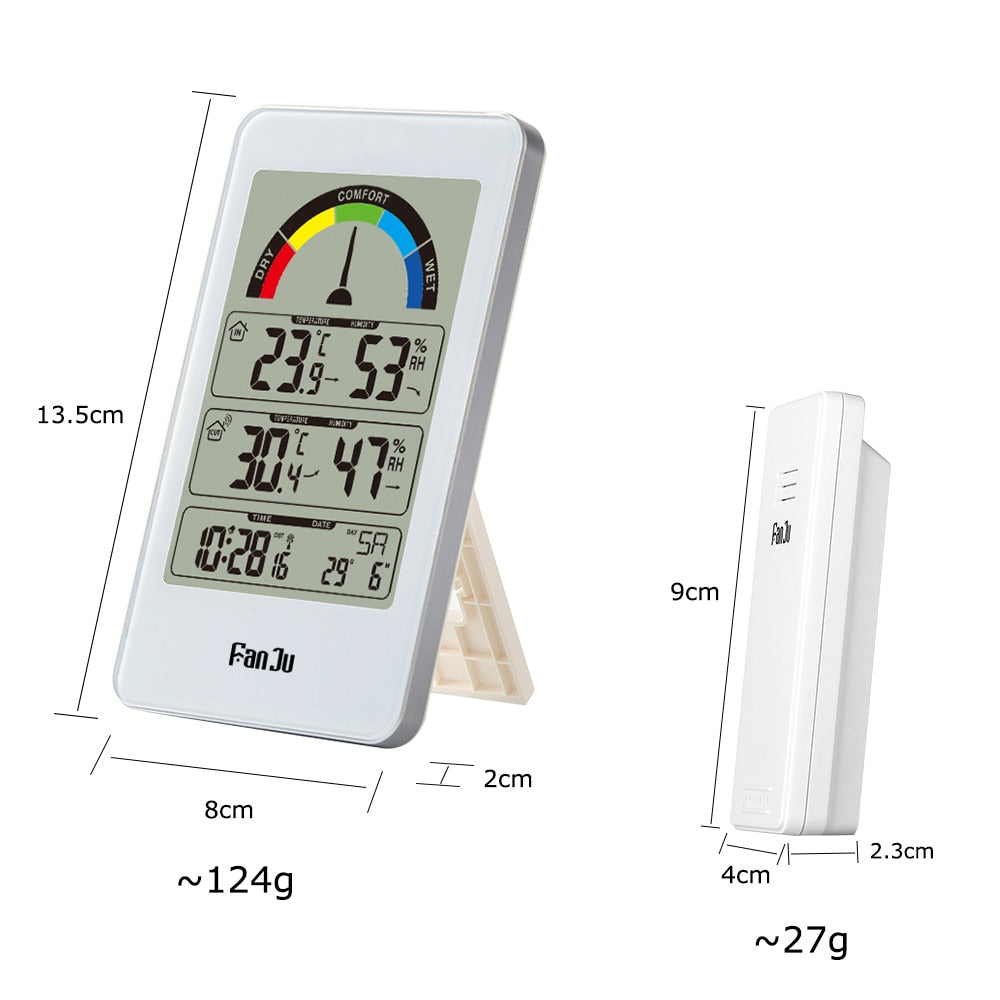 Weather Station Thermometer Digital Alarm Clock Wall