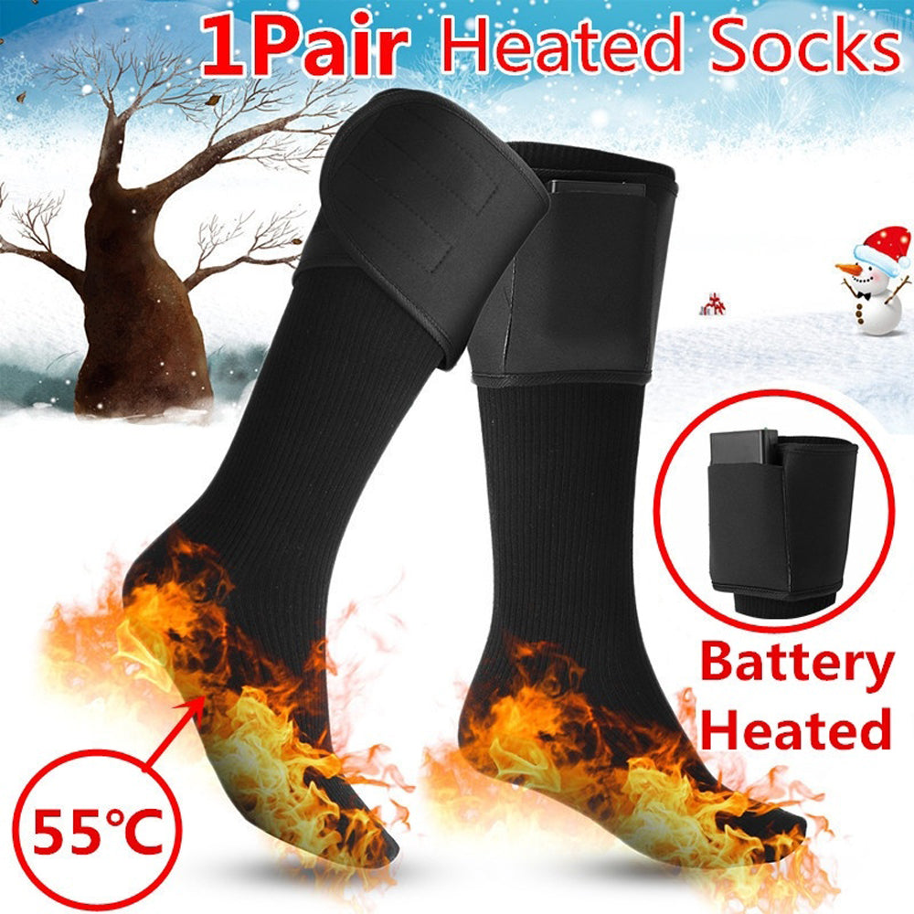 Heated Cotton Socks Electric Charging Battery Feet Thermal