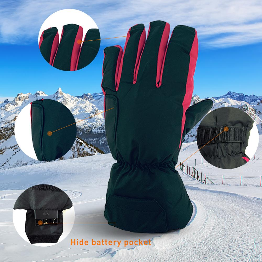 Electric Heated Gloves with AA Battery Powered Winter Waterproof
