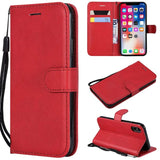 Soft Feel Flip Leather Wallet Phone Case Card Slots