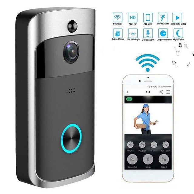 Wireless WiFi Doorbell Video Door Intercom Smart Home
