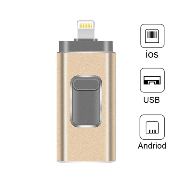 Usb iPhone Flash Drive 3 in 1 Lightning OTG Pen Drive