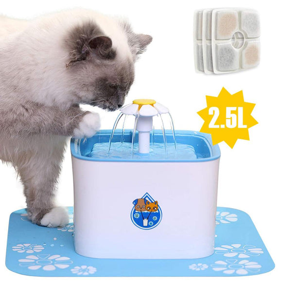 Automatic Cat Fountain Water Drinking Feeder 2.5L Auto Pet Dog Water Fountain