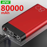 Large capacity 80,000mAh Power Bank Quick Charge dual USB Fast Charging