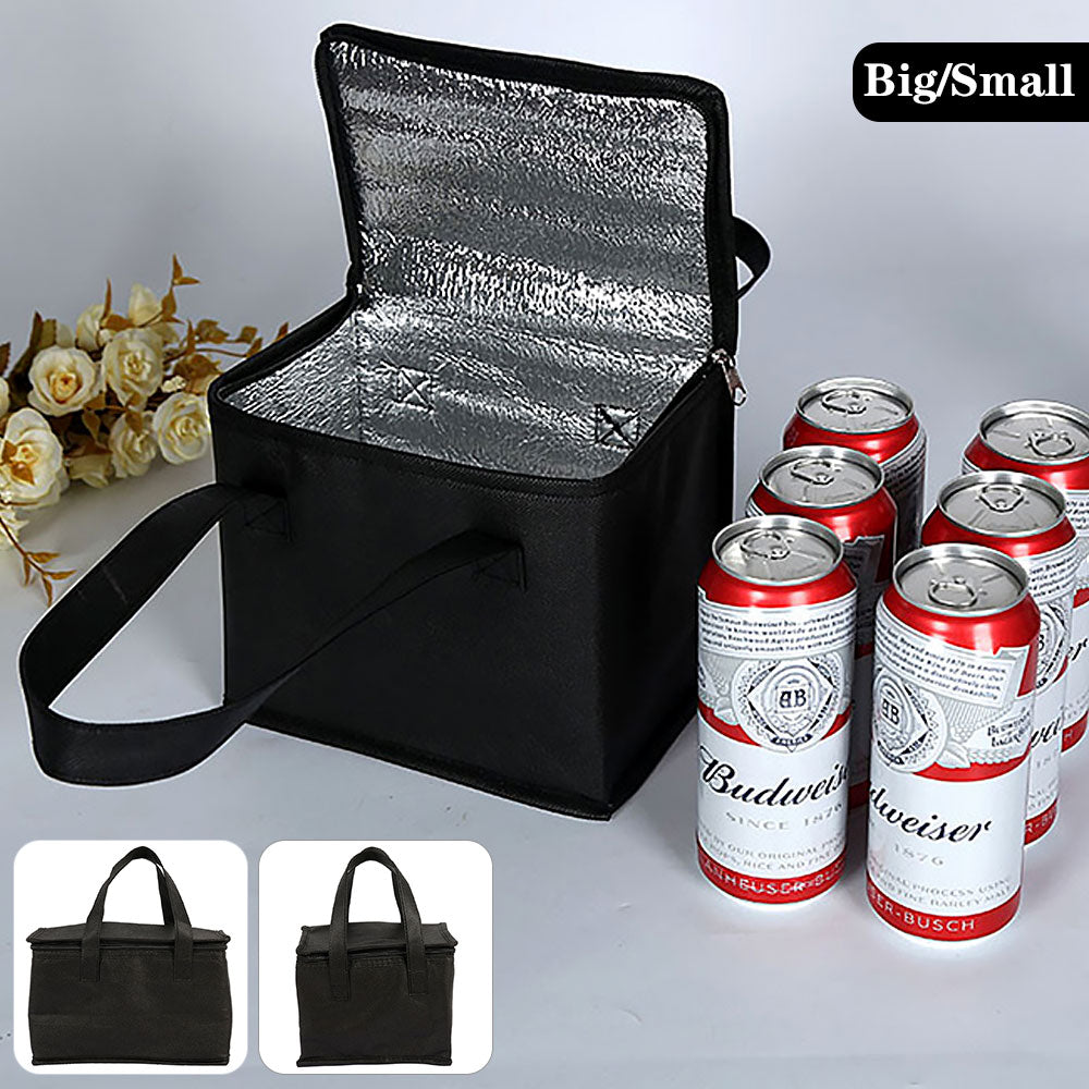 Portable Lunch Cooler Bag Folding Insulation Picnic Ice Pack Food