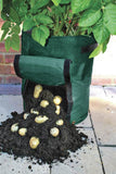 Potato Grow Bags with Flap and Handles Aeration Fabric Pots Heavy Duty 10 Gallon