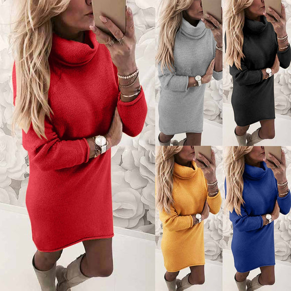 Women's Fashion Long-sleeved Slim Undershirt Turtleneck