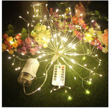 Christmas String Lights Firework LED Copper