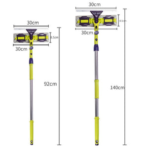 Glass Cleaning Tool Double-Sided Telescopic