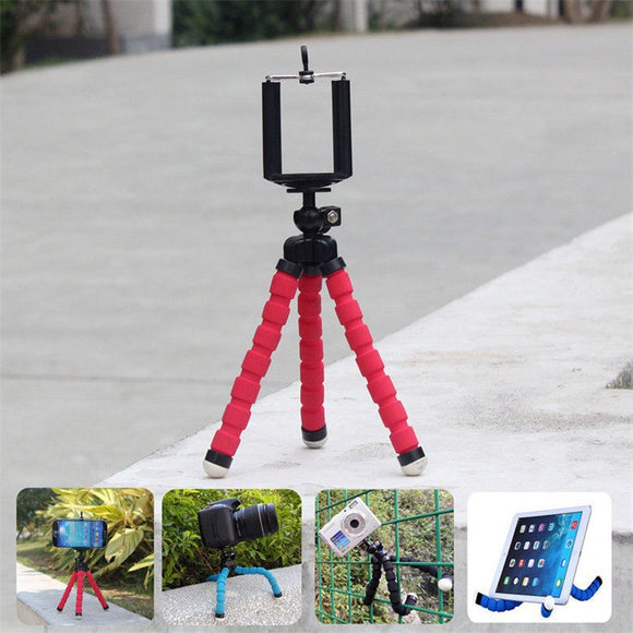 Car Phone Holder Flexible  Tripod Bracket Stand Mount Monopod Styling