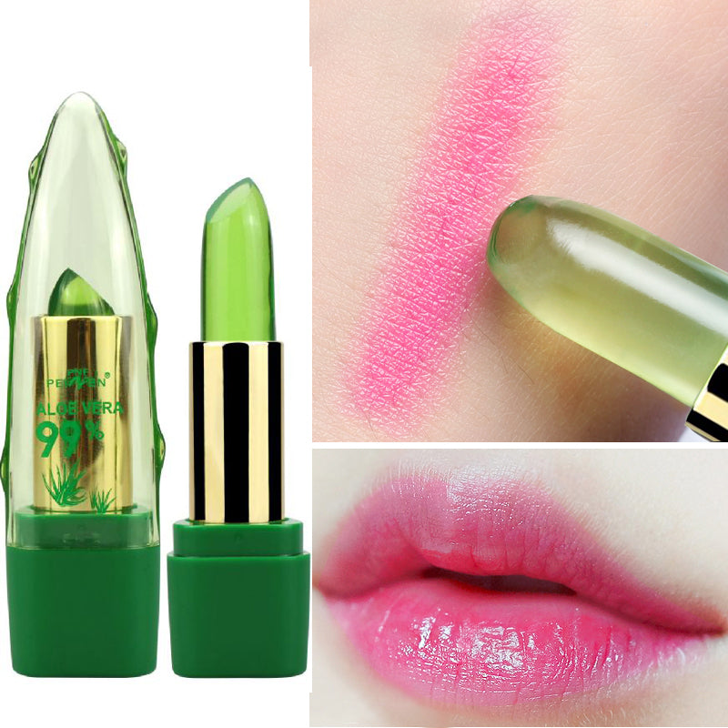 ALOE VERA Natural Temperature Change Color Jelly Lipstick Long Lasting