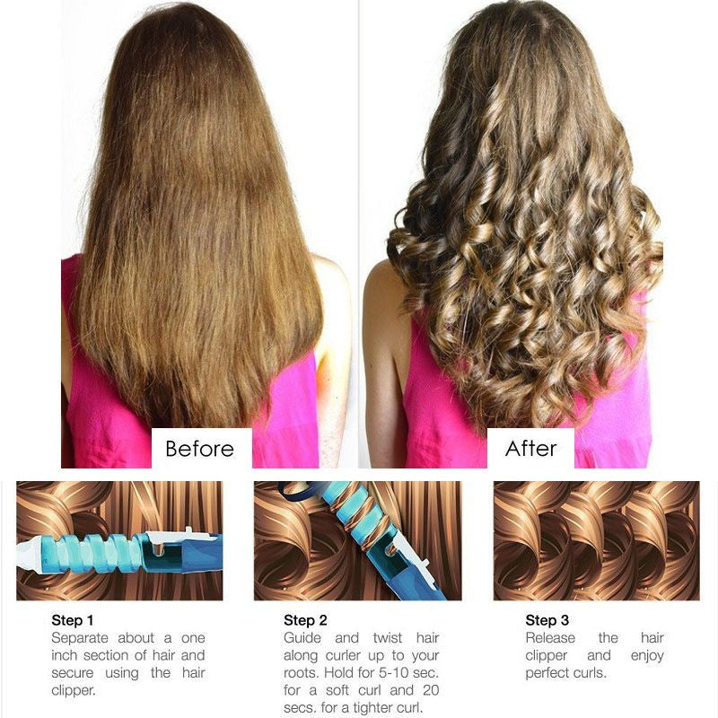 Hair Curling Iron Wand Salon Hair Styling