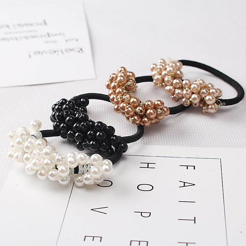 Women Hair Accessories Pearls Beads Headbands