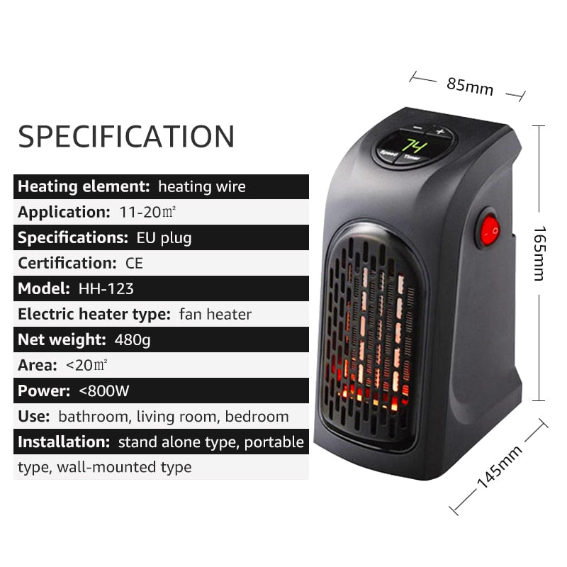 Electric Heater Fast Handy Heater Warm Machine for Winter