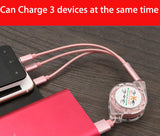Retractable Multi USB Charging Cable Micro USB