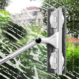 Telescopic rod rotating head With cleaning cloth Rubber wiper