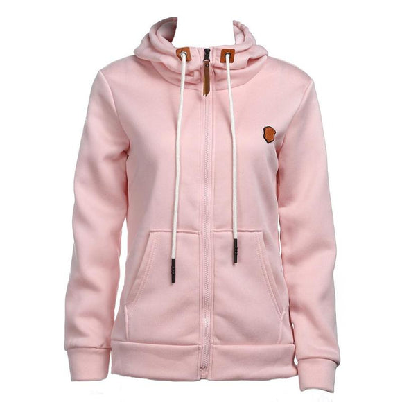 Women Fashion Zipper Sweatshirt