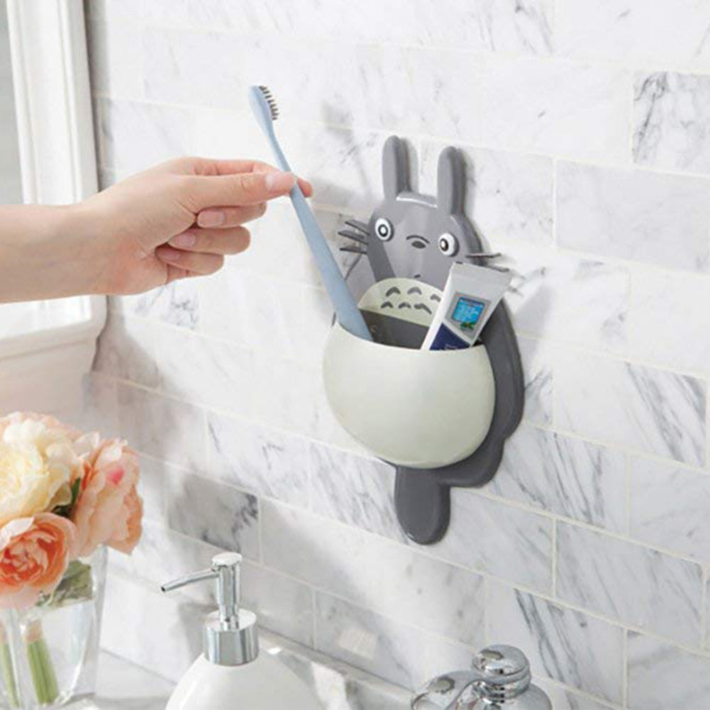 Shaped Toothbrush Wall Mount Holder Sucker