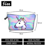 Unicorn Printing Makeup Case Pattern Cute Cosmetics
