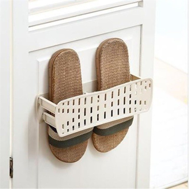 Wall Mount Self Adhesive Shoes Rack Creative