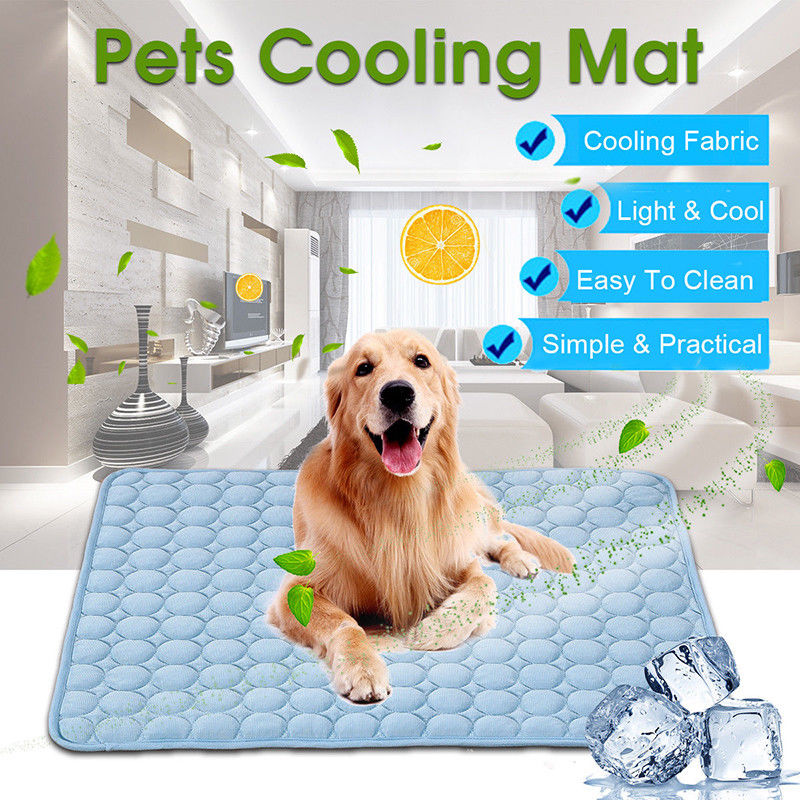 Pet Dog Cat Cool Bed Solid Gel Mat Non-Toxic
