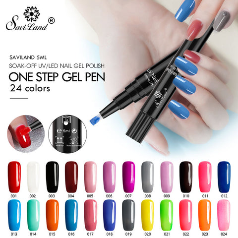 Nail Gel 3 In 1 One Step Nail  Polish Pen